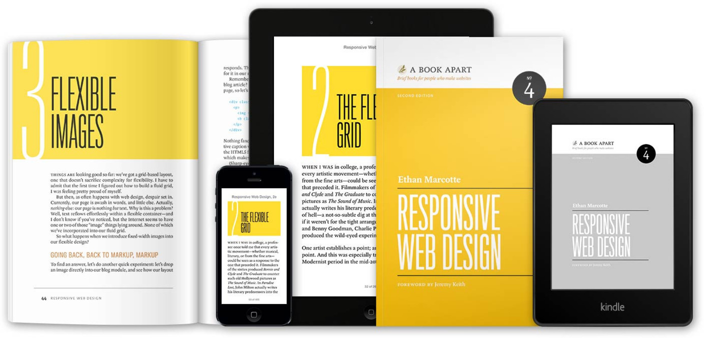 responsive design book by Ethan Marcotte