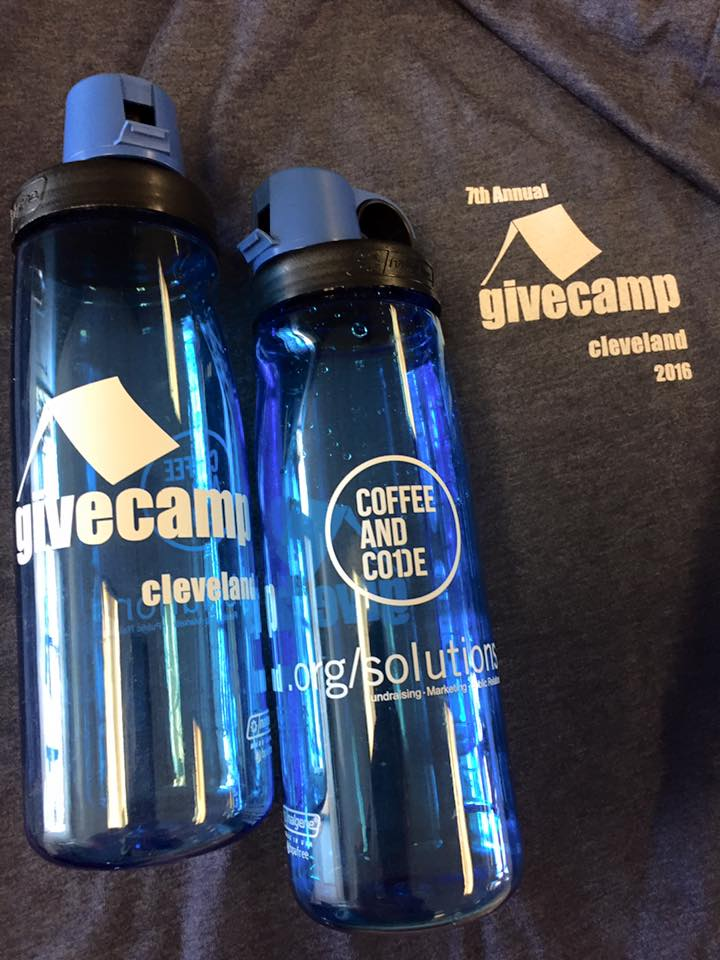 GiveCamp Water Bottles